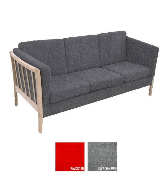 sofa uld 3 pers 3 pers. sofa i uld   Kvalitets møbel til institutionen. sofa uld 3 pers